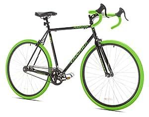Takara Kabuto Single Speed Road Bike, Large/58cm, Black/Green
