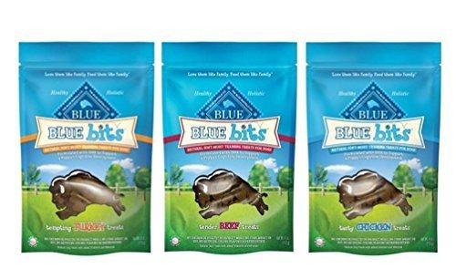 Blue-Buffalo-Blue-Bits-Natural-Soft-Moist-Training-Treats-For-Dogs-3-Flavor-Variety-Bundle-1-Blue-Bits-Tender-Beef-Recipe-Treats-1-Blue-Bits-Tasty-Chicken-Recipe-Treats-and-1-Blue-Bits-Tempting-Turkey