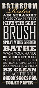 Bathroom Rules by Jim Baldwin Signs Sayings Print Poster 8x18 by The Picture Peddler Inc.