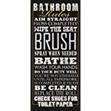 Bathroom Rules by Jim Baldwin Signs Sayings Print Poster 8x18
