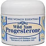 Best Wild Yam & Progesterone Cream 2 oz No Parabens No Fragrance - Liposome Blend - Vitamin E, C, A - No Animal Products - Wise Essentials
