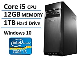 2016 New Edition Lenovo Ideacentre High Performance Flagship Desktop, Intel Core i5 Processor up to 3.4GHz, 12GB DDR3 RAM, 1TB HDD, 802.11ac WiFi, Bluetooth, Windows 10