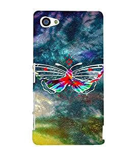 PrintVisa Colorful Butterfly 3D Hard Polycarbonate Designer Back Case Cover for Sony Z5 Mini :: Z5 Compact