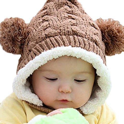 Dealzip Inc®Brown New Fashion Elfin Style Unisex Children Boys Girls Winter Warm Earflap Hat Cap+Random Gift