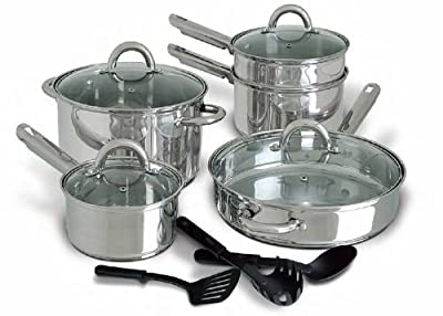Cusine Select Abruzzo Stainless Steel 12 Piece Cookware Set