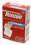 RENNIE TABLETS PEPPERMINT BLUE