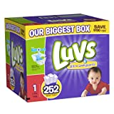 Luvs With Ultra Leakguards Size 1 Diapers 252 Count