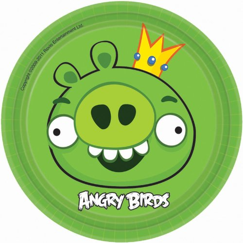 New Angry Birds Dessert Plates Party Accessory