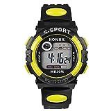 Bestpriceam TM Yellow Multifunction Man Digital LED Quartz Alarm Date Sport Waterproof Watch