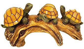 Moonrays 91515 Turtles on a Log Solar-Powered Outdoor LED Light