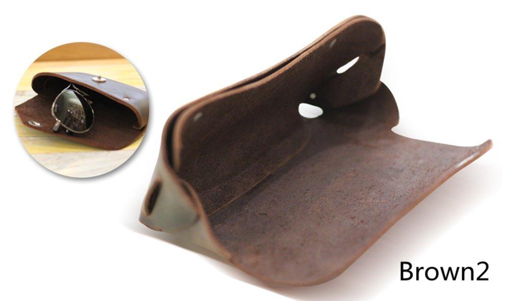 YAAGLE Genuine Leather Glasses Bag Case Soft Vintage Handmade 5