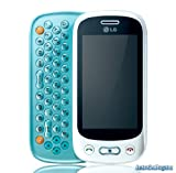 LG GT350 Etna Plus Unlocked Quadband GSM Cell Phone - Touch Screen - QWERTY Slider - International Version (White/Aqua Blue)
