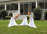 Light Up Color Changing Ghostly Group Haunt Your Yard Halloween Decor Spooky