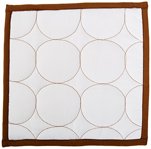 Bacati - Quilted Circles White/Chocolate 3 pc wall hangings