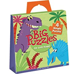 Amazon.com: PZG6 - Big Dinos Puzzles: Peaceable Kingdom Press, David Sheldon: Books
