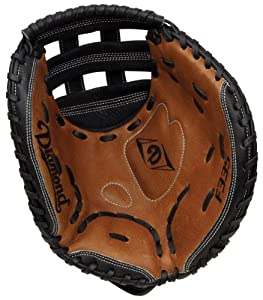Buy Diamond Fast Pitch Cather's Mitt-Lefty for Left Handed Thrower, Tan Black by Diamond Sports