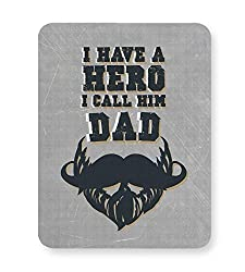 PosterGuy Mouse Pad - My Dad Is My Hero | Designed by: Creative Monk