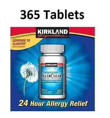 Kirkland Signature Non-Drowsy Allerclear Loratadine Tablets, Antihistamine, 10mg, 730 Count
