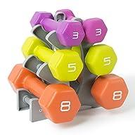 Tone Fitness Neoprene Dumbbell Set wi…