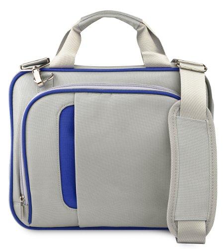 Silver Blue Messenger Shoulder Bag Carrying Case For Lenovo Essential G Series 15.6 Inch Laptop Models G570 / G575 / G580 / G585 + Sumaclife Tm Wisdom Courage Wristband