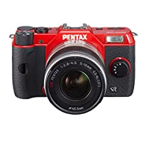 Pentax Q10 Compact System Camera with 3-Inch LCD zoom lens kit 12.4MP (RED)