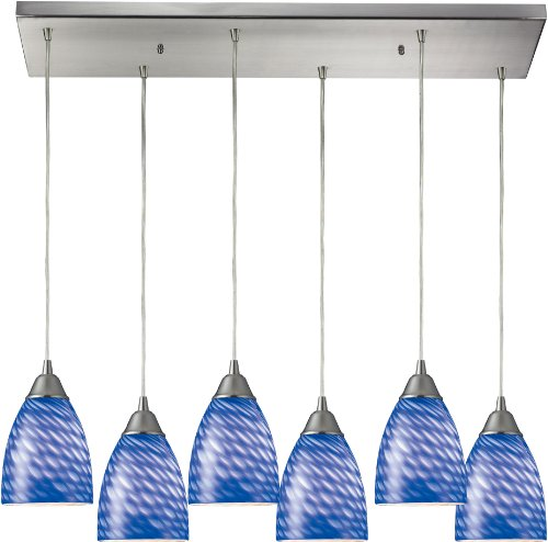 elk-416-6rc-s-30-by-9-inch-arco-baleno-6-light-pendant-with-sapphire-glass-shade-satin-nickel-finish