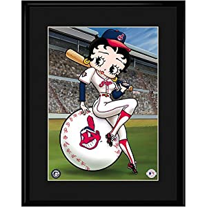 Cleveland Indians MLB Betty On Deck Collectible by Toon Art