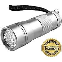 Goliath Industry 12-LED Ultraviolet Black Light Flashlight (Silver)