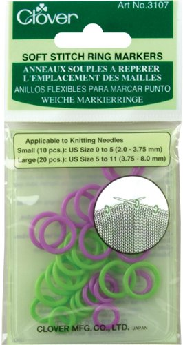 Clover Soft Stitch Ring Markers (Split Ring Stitch Markers compare prices)