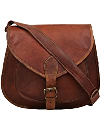"Handcraft's ""Marry"" Genuine Leather Women's Cross Body Bag Brown G-33-1800 ( 13 Inch)"