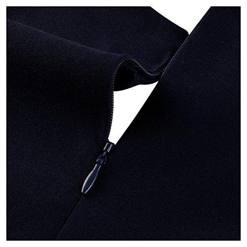 Miusol Women's Buiness Navy Style Deep-V Neck Vintage Bodycon Pencil Dress 3