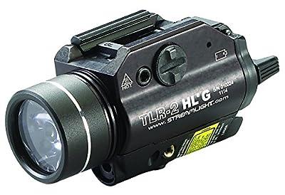 Streamlight 69265 TLR-2 800 High Lumens G Rail Mounted Flashlight with Green Laser, Black from Streamlight