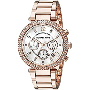 Michael Kors Women's Parker Rose Gold-Tone Watch MK5491