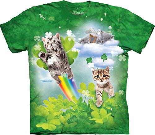 Green Irish Fairy Kittens Kids T-Shirt-XL Green