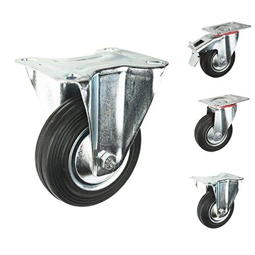 Transportrollen-Fest-drehbar-mit-oder-ohne-Bremse-whlbar-75mm-100mm-125mm-160mm-200mm-Mbelrollen-Lenkrollen-Schwerlastrollen-Bockrolle-100mm