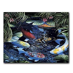 Koi - Box Set of 12 Greeting Cards and Patterned Envelopes
