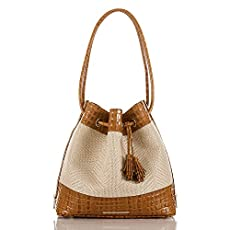 Trina Shoulder Bag<br>Whiskey Raffia