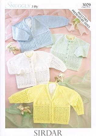 Sirdar Knitting Pattern Books Baby : Sirdar Snuggly 3PLY Baby Knitting Pattern 3029: Amazon.co ...