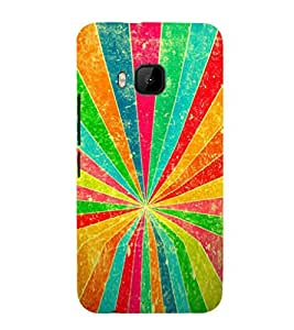 EPICCASE Rainbow Rays Mobile Back Case Cover For HTC One M9 (Designer Case)
