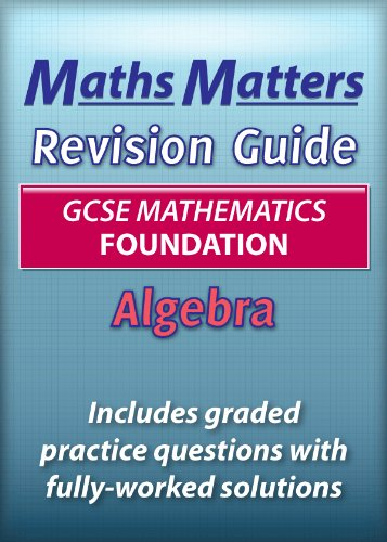 Maths Matters GCSE Revision Guide Algebra