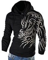 Men's Oblique Zipper Jacket Cosplay Costumes Hoodie II Coat