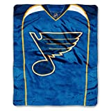NHL St. Louis Blues Jersey Royal Plush Raschel Throw Blanket, 50x60-Inch