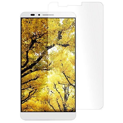 ライフエッグ Huawei Mate7対応 液晶保護ガラスフィルム 日本製ガラス材使用 硬度9H 飛散防止 ラウンドエッジ 0.33mm 気泡軽減 クロス・ほこり除去シール付属 クリア LW-TGSAM701-CL