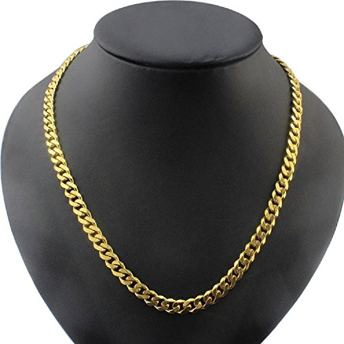 crazypiercing-fashion-men-stainless-steel-faux-gold-curb-link-chain-necklace-generic