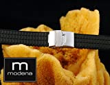 20mm MODENA Modern / Lego Style Italian Rubber Watch Band w/ Deployant / Deployment Buckle / Clasp