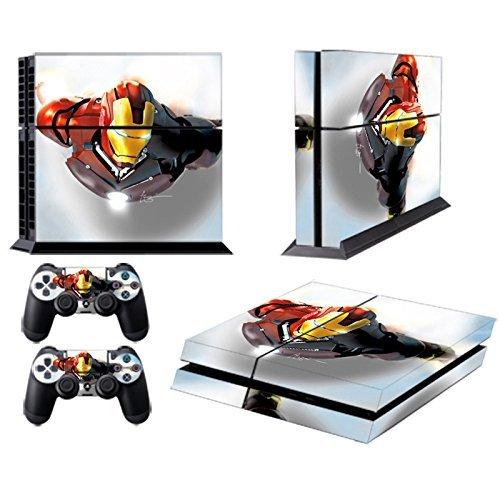 MightyStickers PS4 Console Designer Protective Vinyl Skin Decal Cover for Sony PlayStation 4 & Remote DualShock 4 Wireless Controller Stickers - Marvel Avengers Gangster Iron Man Flying Extreme Hero (Marvel Capcom Ps4 compare prices)
