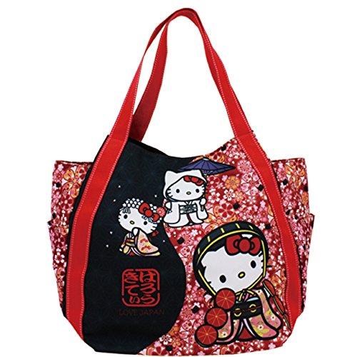 HALLO KITTY × DEARISIMO print bag Cherry Blossom