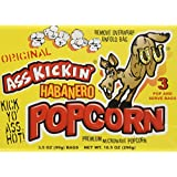 Ass Kickin' Habanero Popcorn 3-Pack (3.5oz per bag)- Put a little Ass Kickin' in your favorite movie! This popcorn is seasoned just right, with a taste of the southwest. Save with our 3-pack.