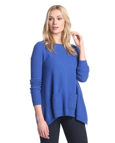 Cullen Women's Cashmere Pullover with Pockets  [Cobalt]
