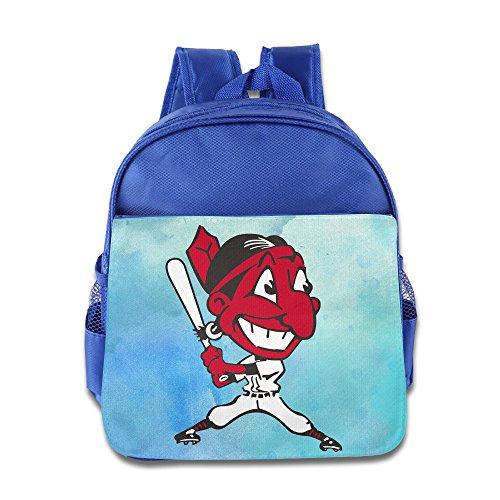 POOZ Cleveland Indians Children School Backpack For Boys & Girls RoyalBlue